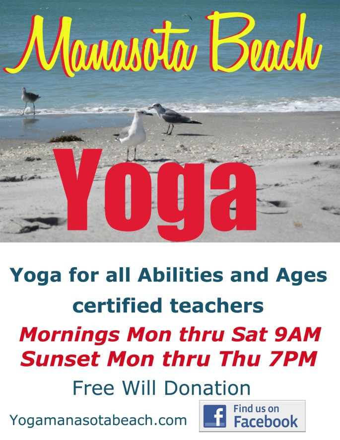 Manasota Beach Yoga postcard spring 17 copy